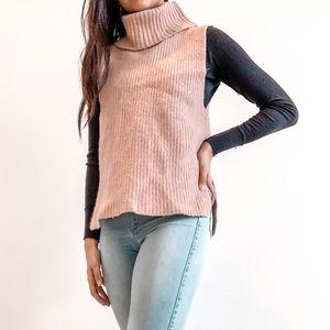 trendy light pink sweater vest